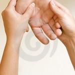 acupression des mains