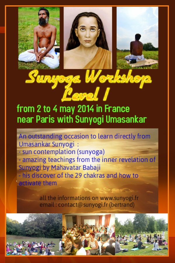 Flyer Sunyoga Workshop May 2014 in France