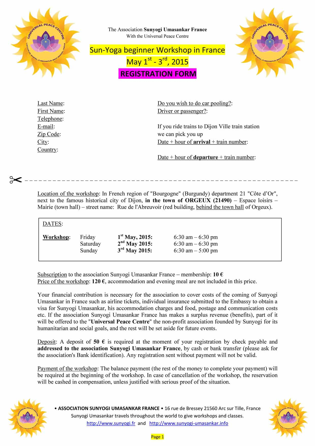 ENG_ SUNYOGA May 1-2-3 2015 REGISTRATION FORM-1